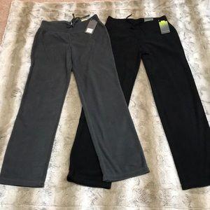 Tek Gear Fleece Lounge Pants Gray/Black Bundle